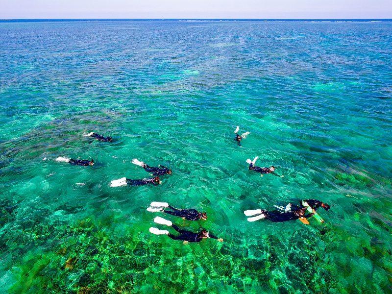 石西礁湖シュノーケリング