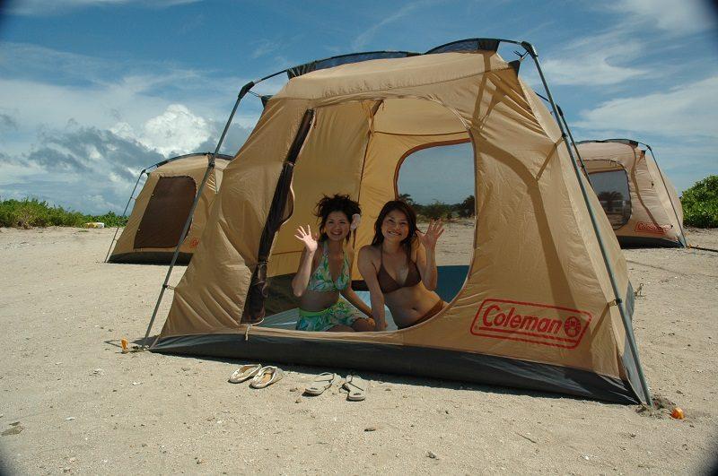 無人島キャンプ体験