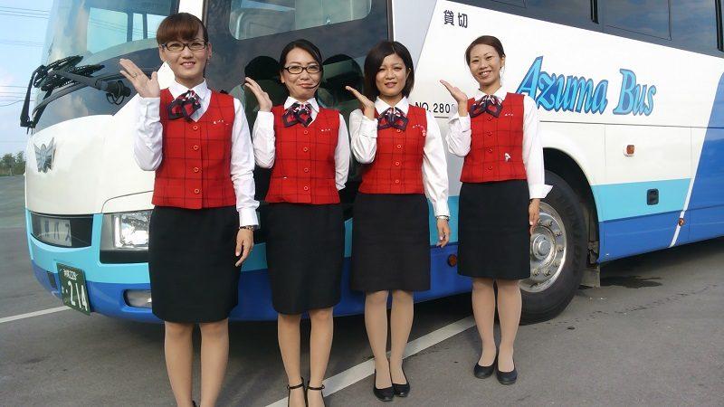 バス観光のガイドさん
