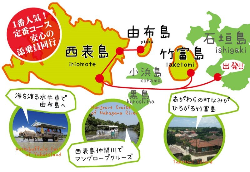 八重山観光3島めぐり